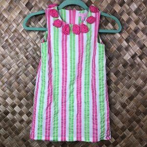 Lilly Pulitzer Seersucker Green Pink Stripe Dress